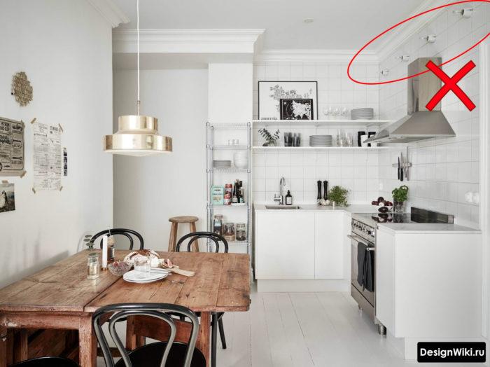 Настенные лампочки эдисона на кухне
