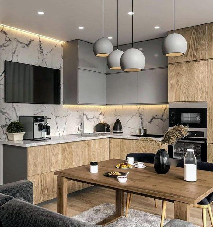 Скрытая подсветка как важный элемент дизайна кухни