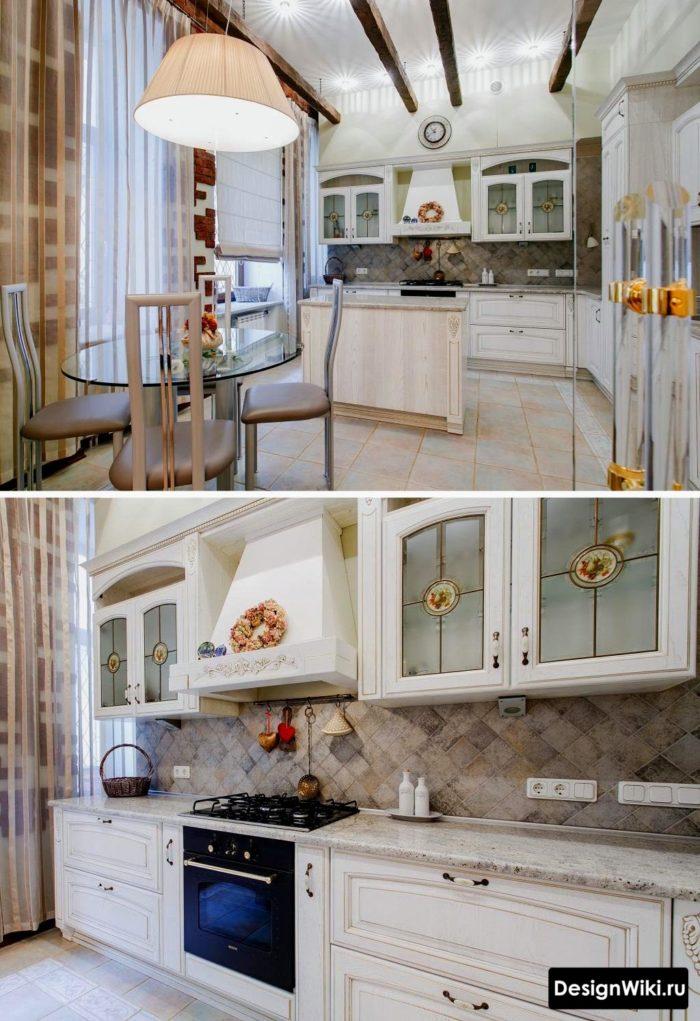 Современная вариация прованса в дизайне кухни