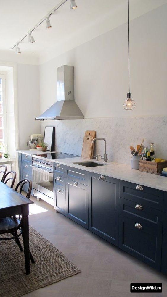 Трековые светильники на кухне без верха