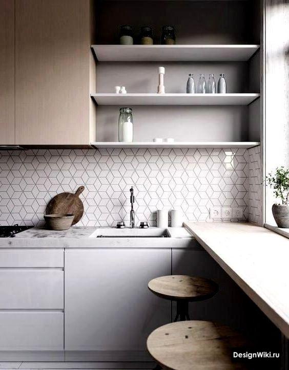 белая кухня в скандинавском стиле купить
