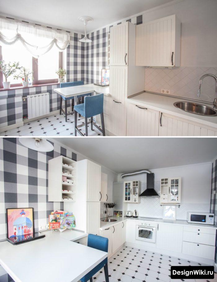 дизайн кухни в скандинавском стиле 12 кв м