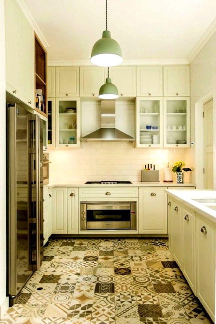 кухня в скандинавском стиле бежевая