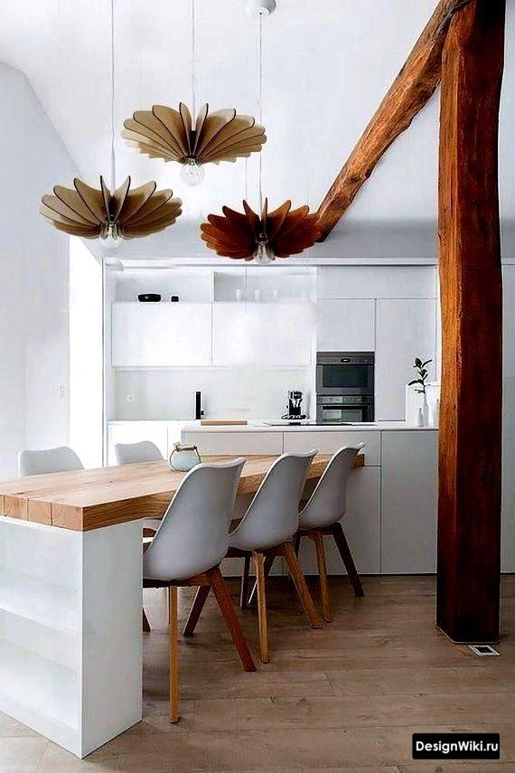 кухня в скандинавском стиле зеленая
