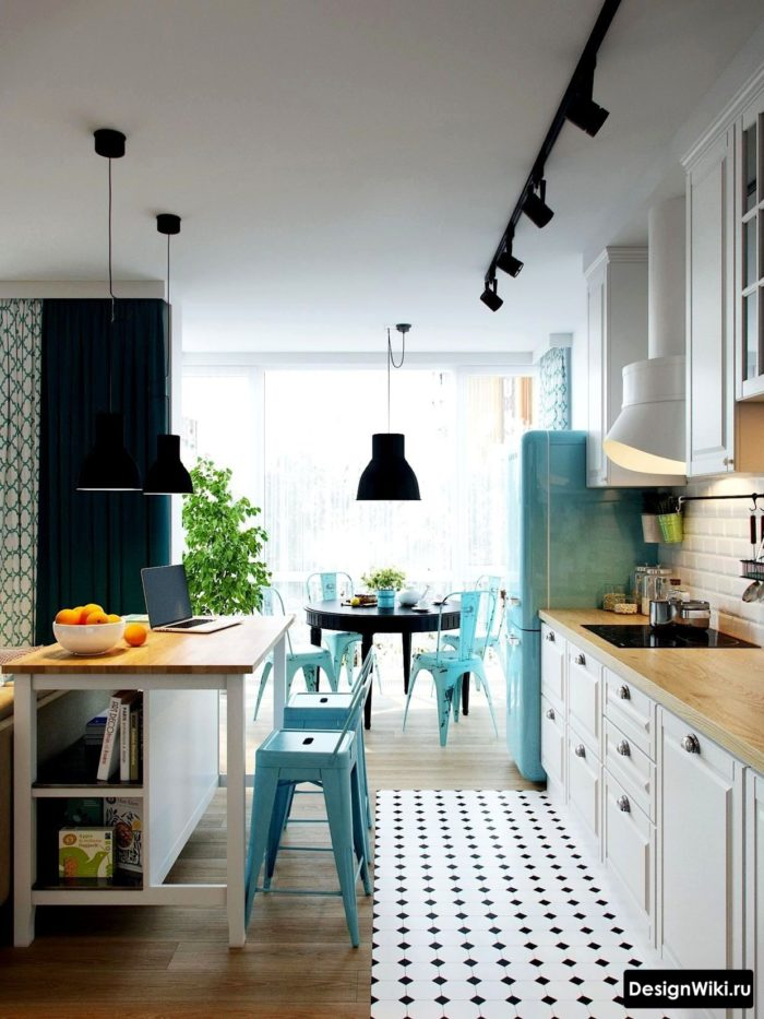 кухня в скандинавском стиле угловая