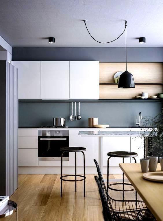 кухня в скандинавском стиле фото в типовой квартире