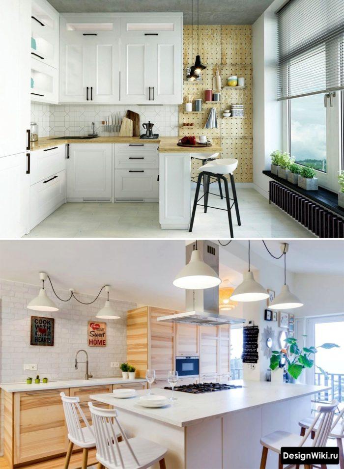 кухня студия в скандинавском стиле фото