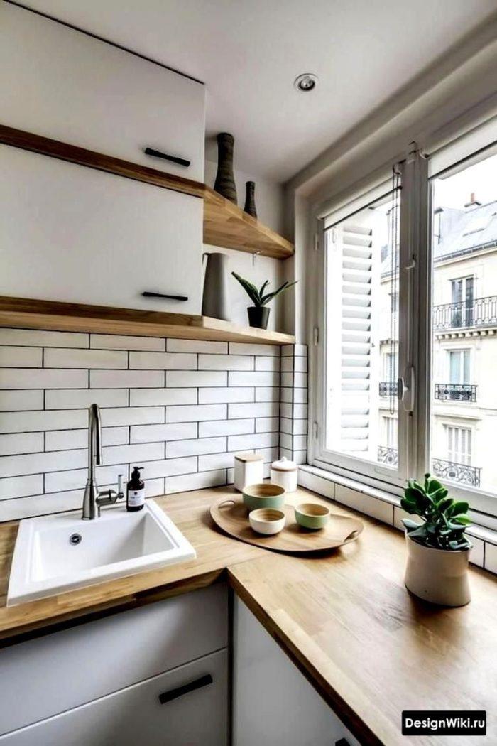 кухня 12 метров в скандинавском стиле