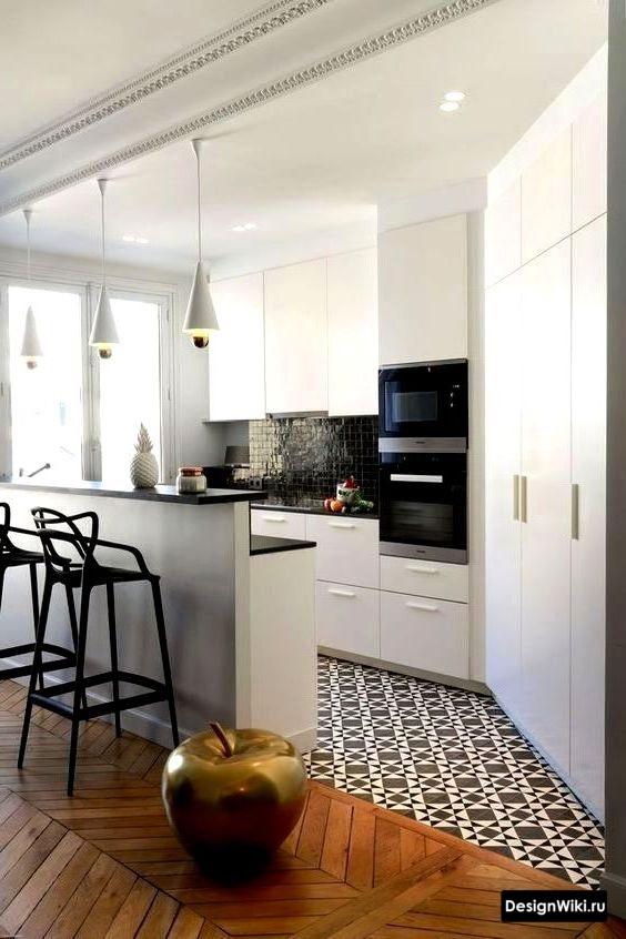 маленькая кухня в скандинавском стиле