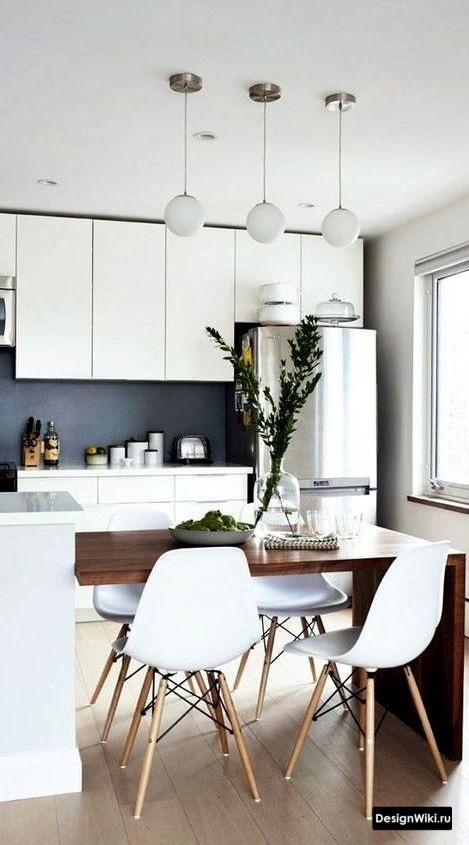 ремонт кухни в скандинавском стиле с мебелью до потолка