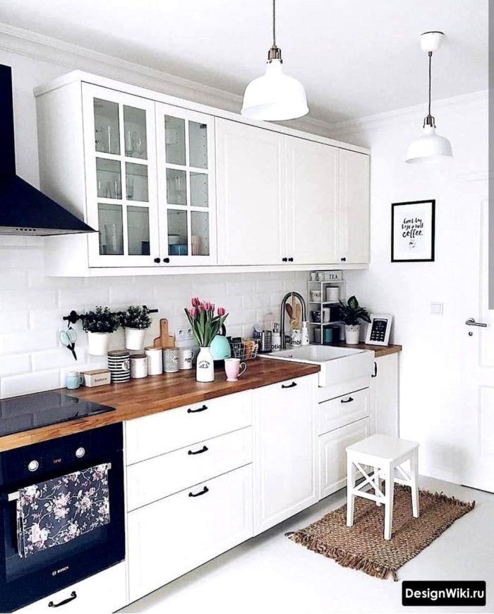 скандинавский стиль в интерьере кухня гостиная