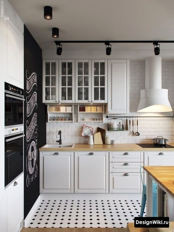 Белая кухня в стиле прованс с элементами скандинавского стиля