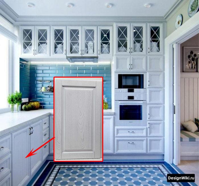 Белая текстура дерева в кухне в стиле прованс