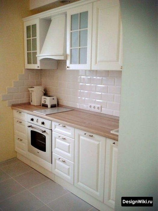 Бюджетная мебель в интерьере кухни в стиле прованс