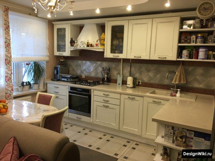 Классический дизайн кухни в стиле прованс