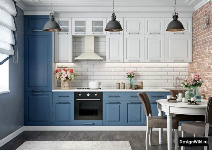 Кухня в стиле неоклассика с элементами прованса