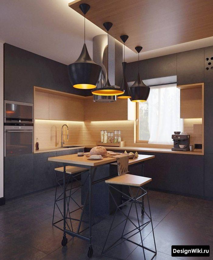 Натуральная цветовая гамма в дизайне кухни