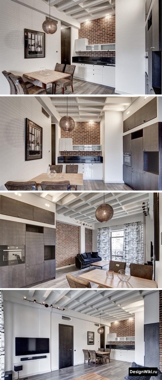 Необычный потолок на кухне