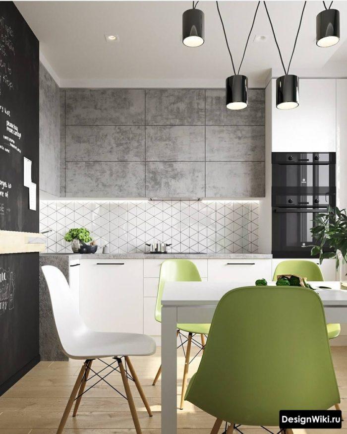 Соврменная мебель в стиле лофт для кухни