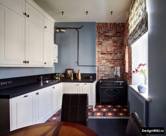 Сочетание прованса и лофта на кухне