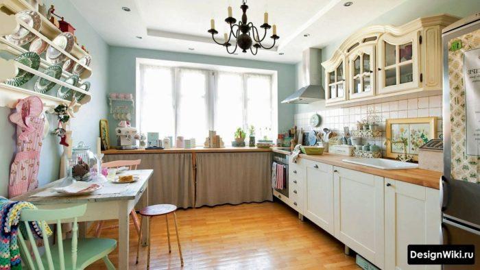 Цветовая палитра недорогой кухни в стиле прованс