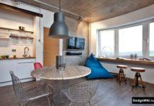 Дизайн кухни в стиле лофт в квартире