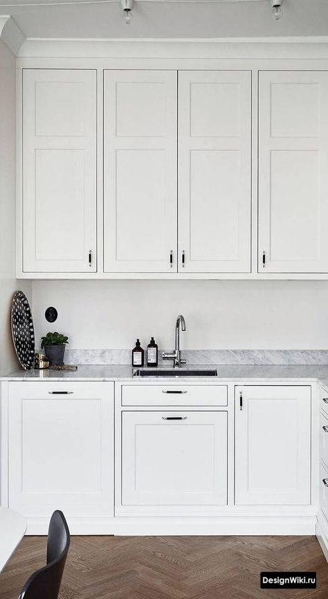Кухня под потолок в стиле неоклассика