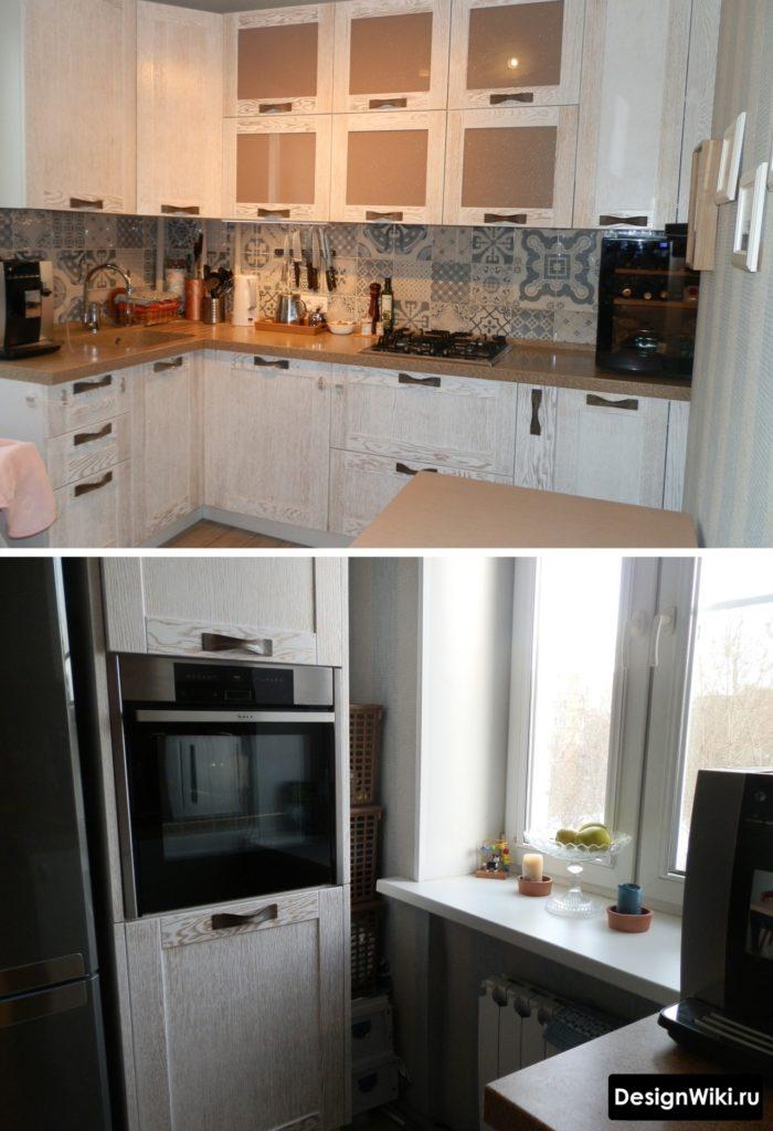 Малогабаритная кухня в квартире в стиле прованс