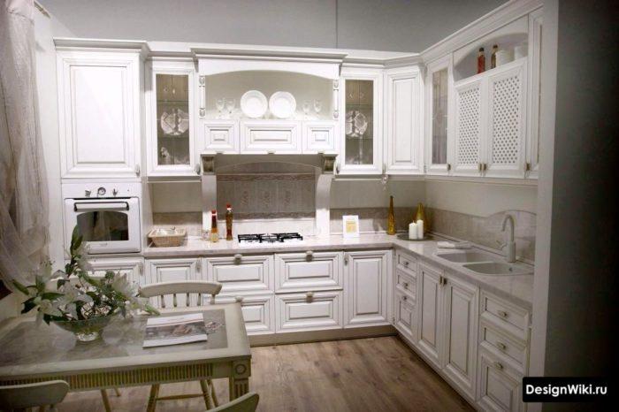Наполнение аксессуарами кухни в стиле прованс
