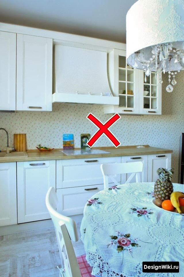 Ошибка с обоями в стиле прованс на кухне