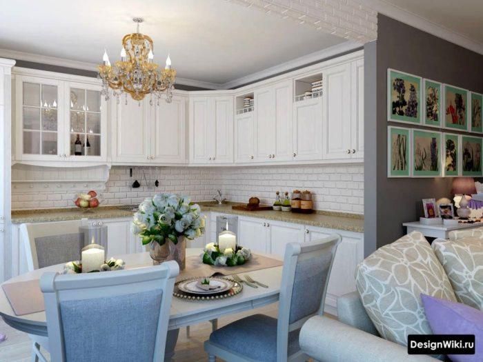 Современные аксессуары и декор на кухне в стиле прованс