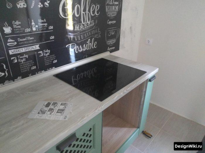 Место для холодильника в угловой кухне