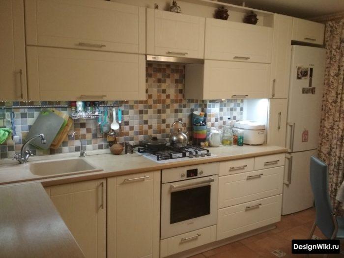 Реальный интерьер угловой кухни 9 кв.м