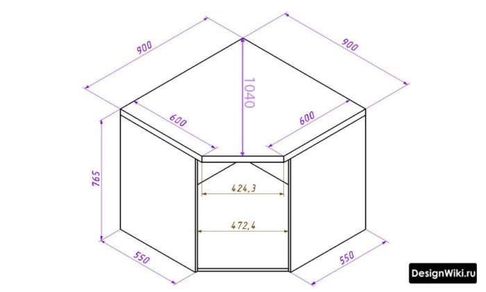 Угловая мойка для кухни с тумбой размеры