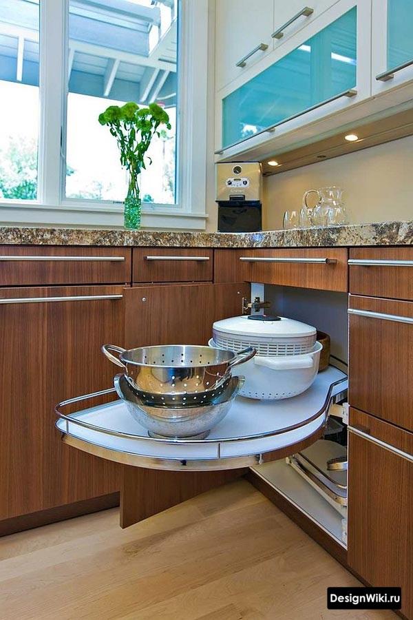 Фурнитура для углового ящика кухни