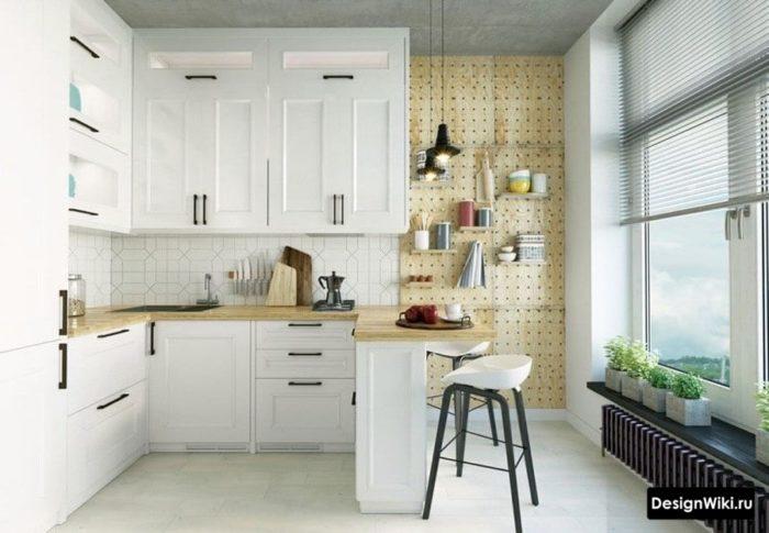 г образная кухня планировка интерьера кухни