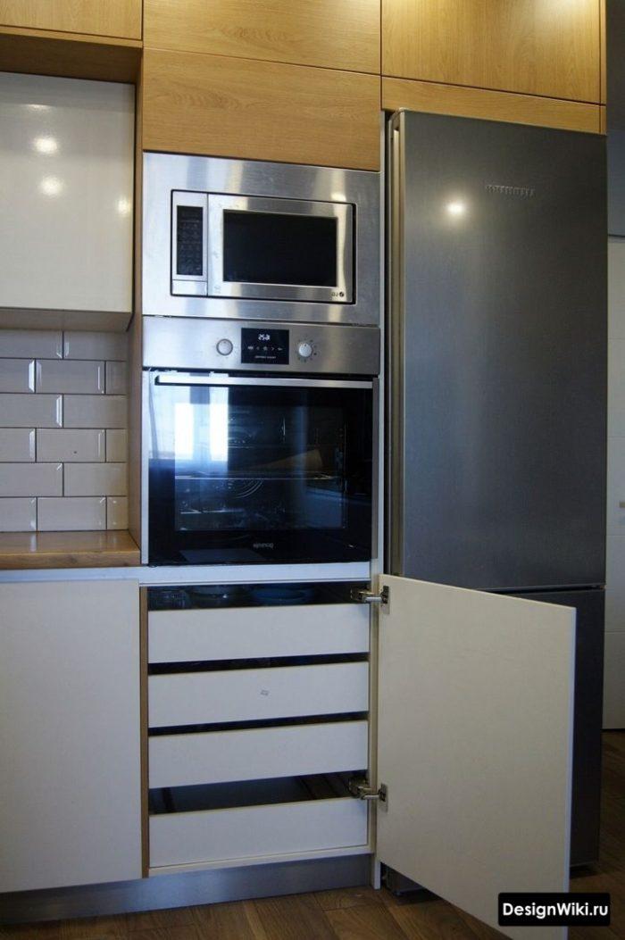дизайн кухни п образной формы