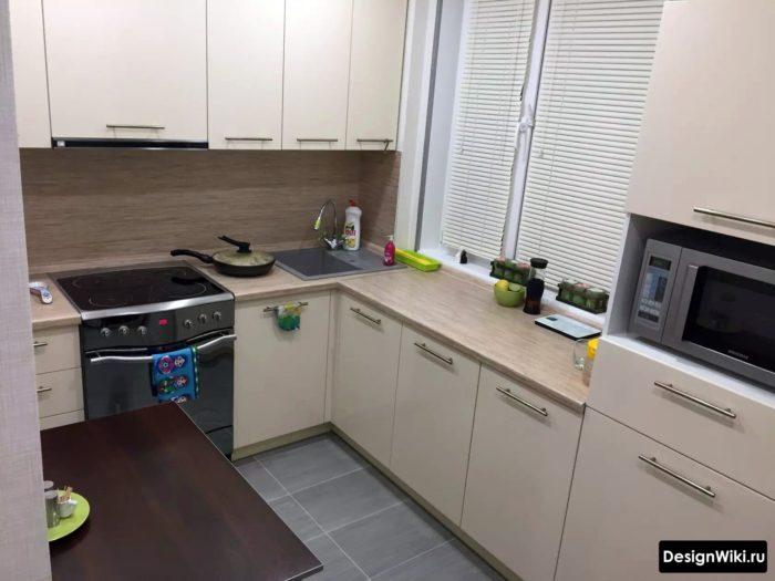 дизайн кухни 6 кв м в панельном доме