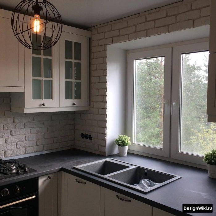 дизайн кухни 6 кв м с газовой колонкой