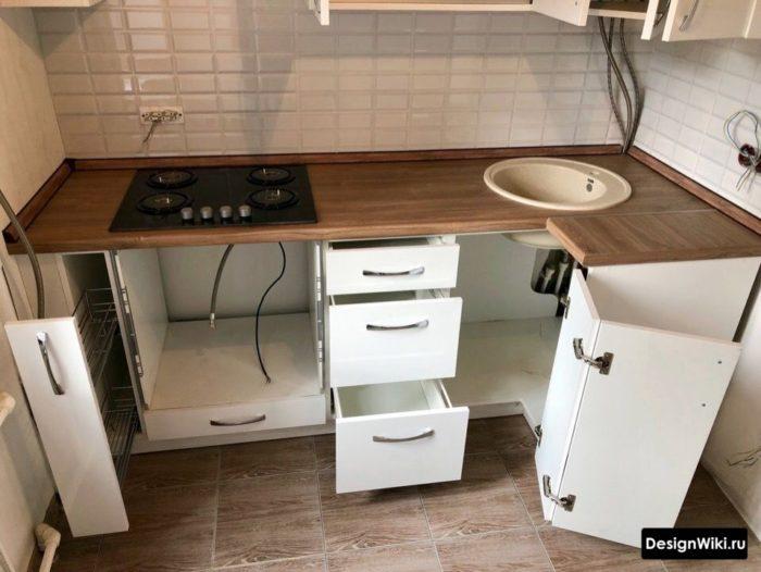 дизайн кухни 6 кв м хрущевка с холодильником