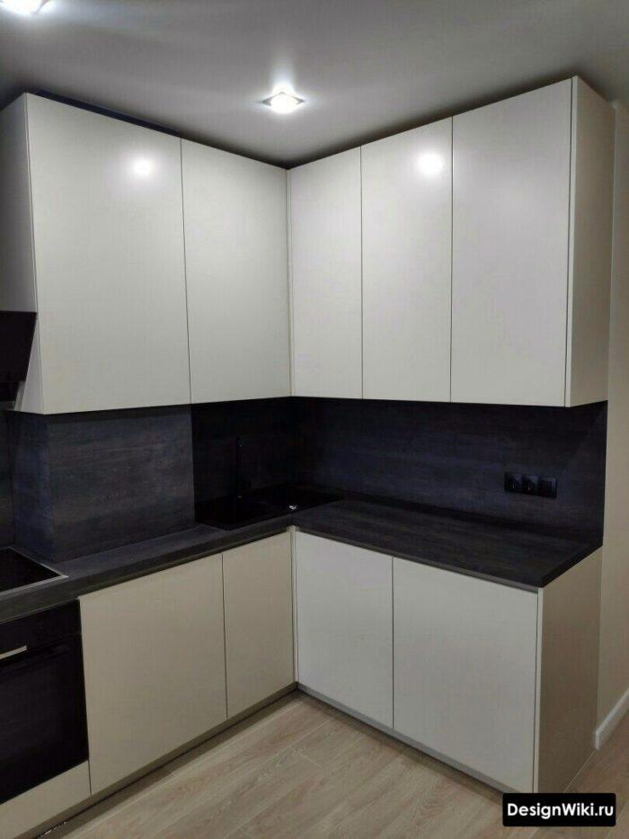 дизайн кухни 6 кв.м. до потолка