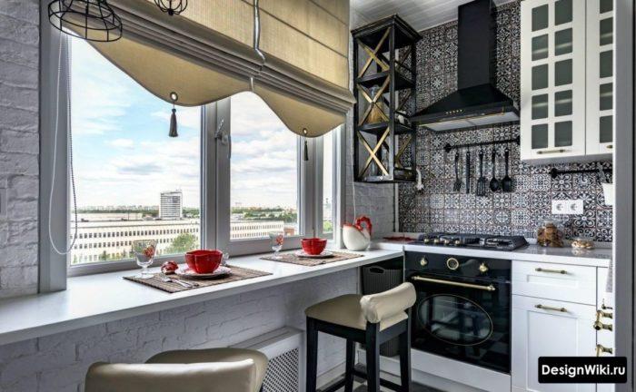дизайн проект кухни 6 кв м