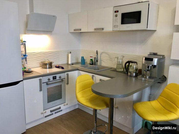 дизайн п образной кухни