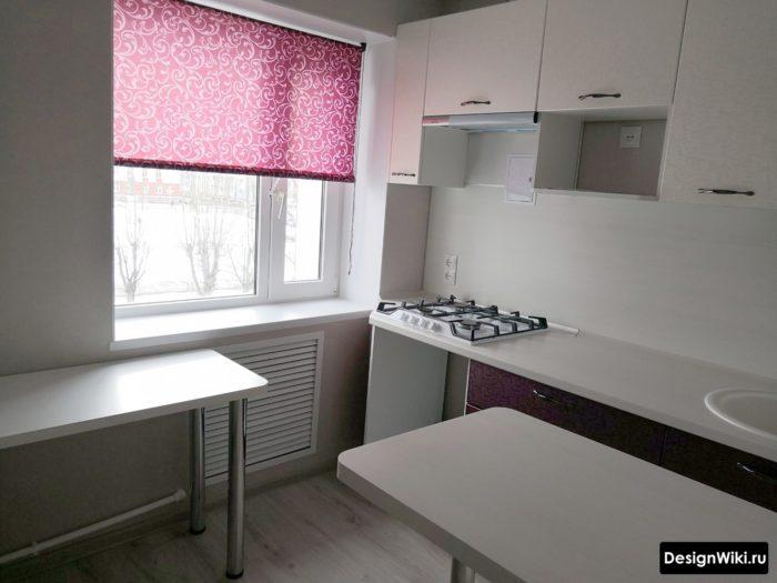 интерьер кухни 6 кв м в современном стиле