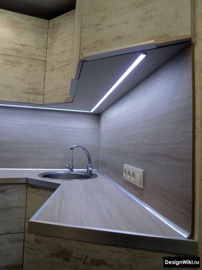 интерьер кухни 6 кв