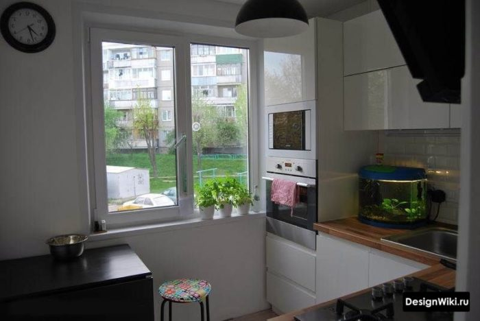 интерьер кухни 6 метров