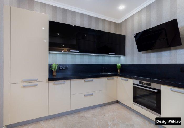 интерьер угловой кухни