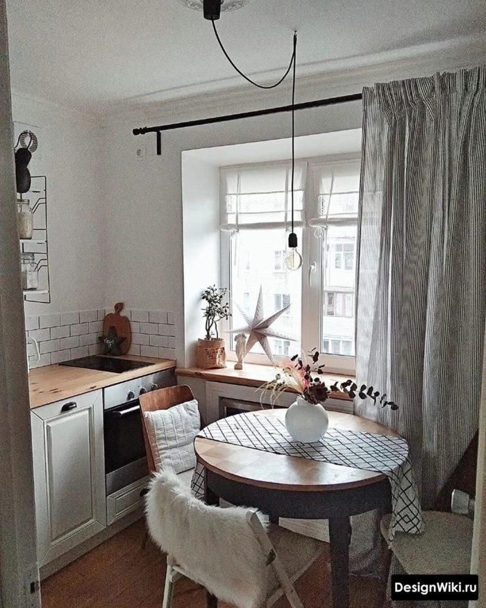 как обустроить маленькую кухню 6 метров