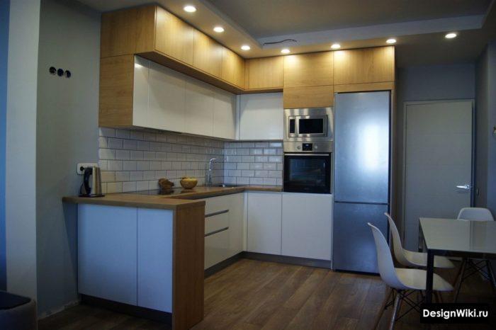 кухни буквой г дизайн