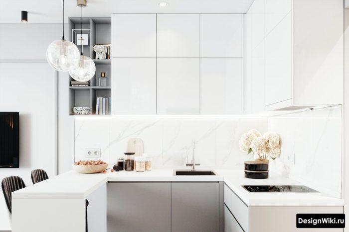 кухни г образные дизайна
